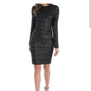 NWOT Black Halo desoto sheath dress, lined